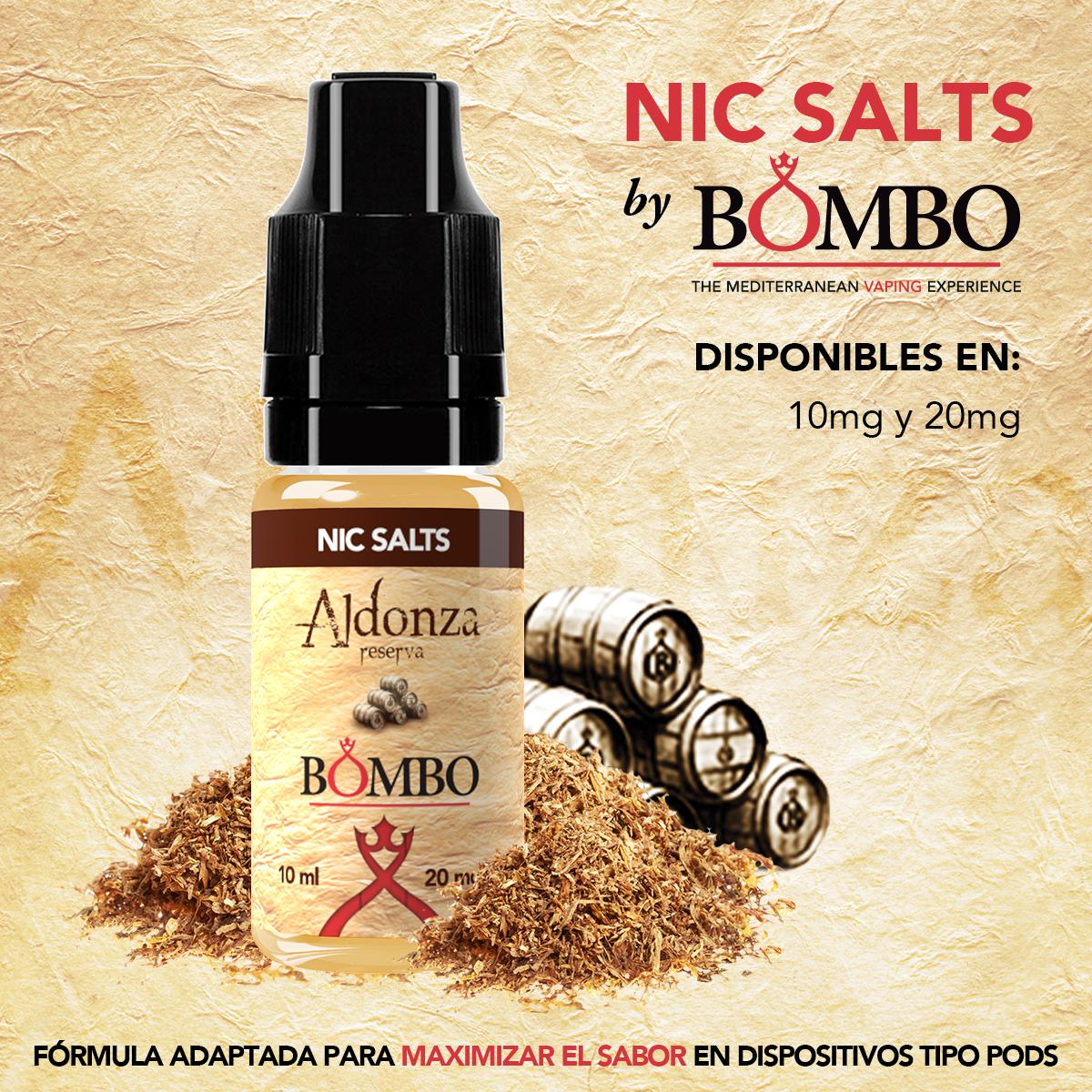 aldonza bombo eliquids nic salts sales de nicotina