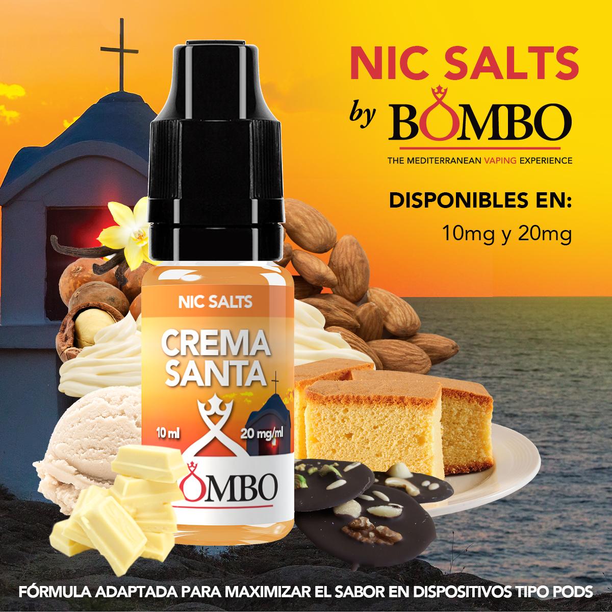 crema santa bombo eliquids nic salts sales de nicotina