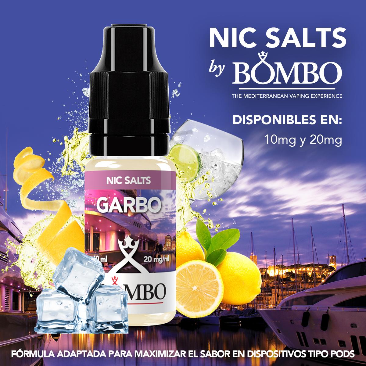 garbo bombo eliquids nic salts sales de nicotina