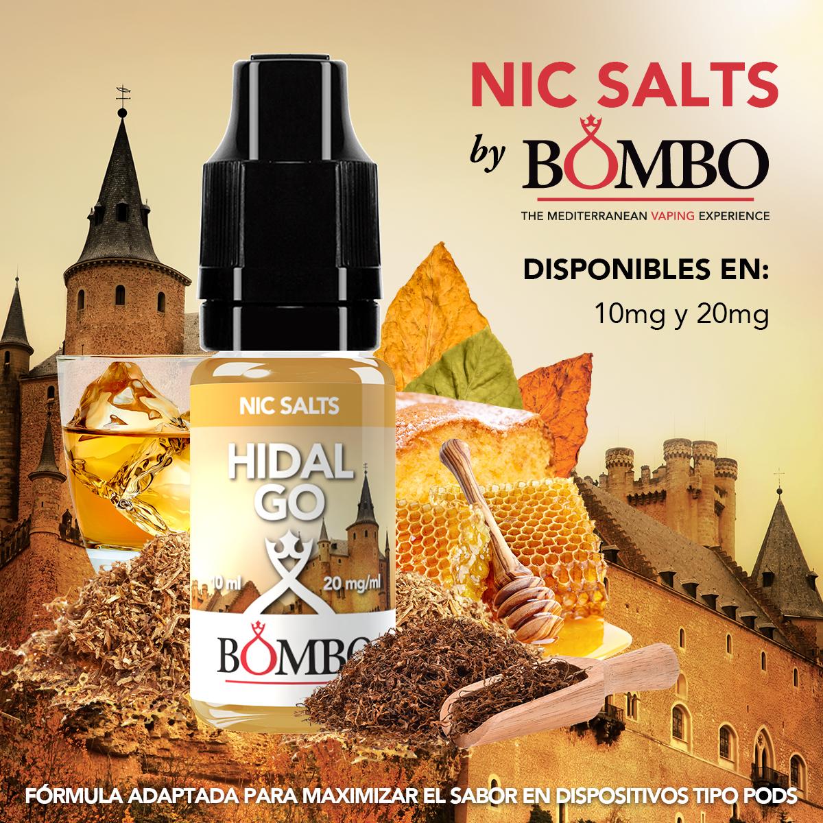 hidalgo bombo eliquids nic salts sales de nicotina