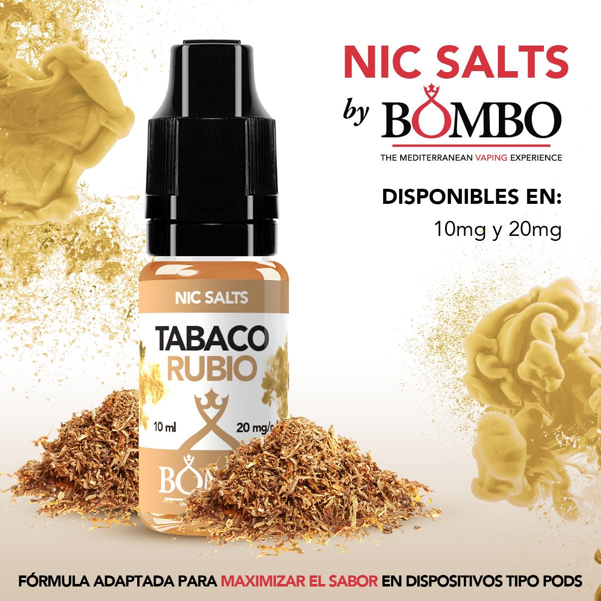 tabaco rubio bombo eliquids nic salts sales de nicotina