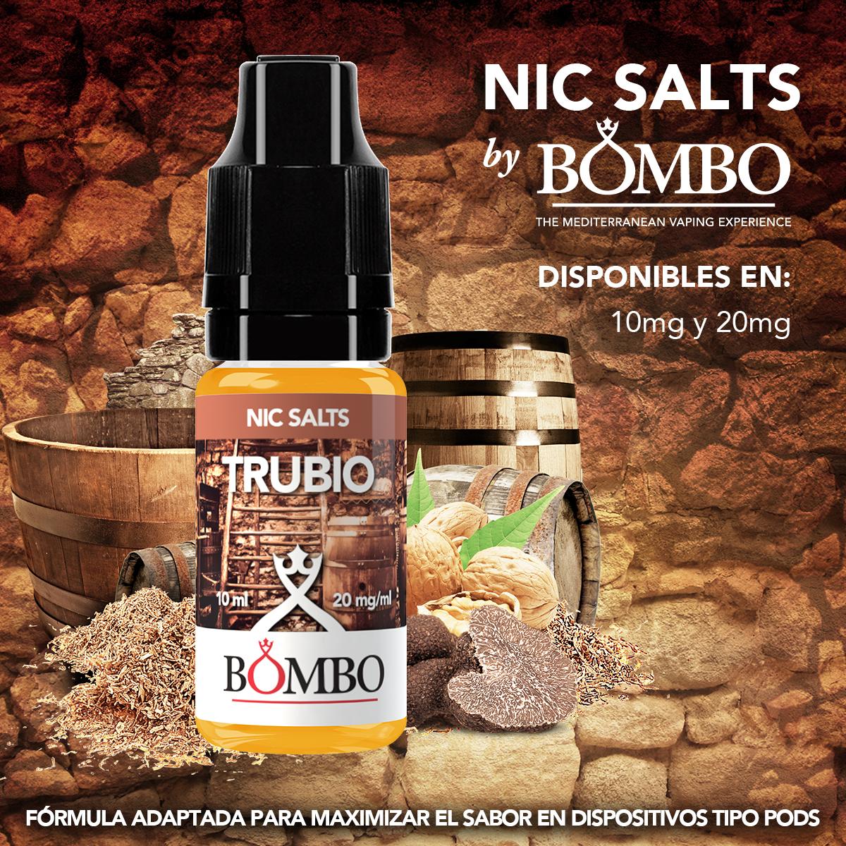trubio nic salts bombo eliquids sales de nicotina
