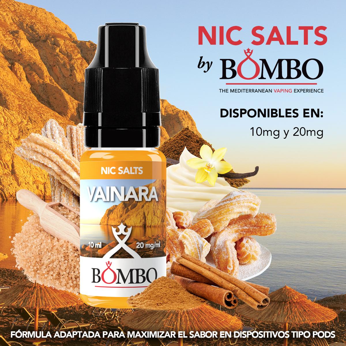 vainara bombo eliquids nic salts sales de nicotina